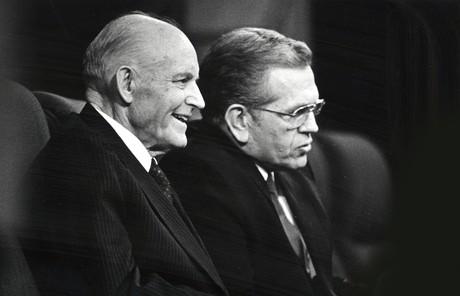 Howard W. Hunter and Boyd K. Packer