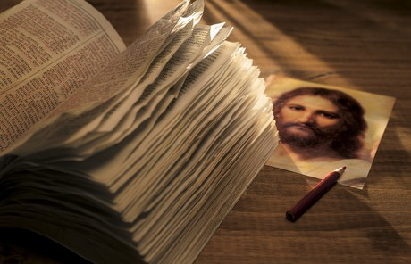 scriptures and image of Christ