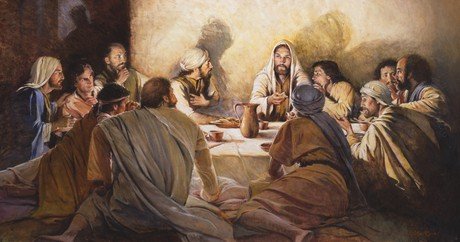 Christ with Apostles at last supper