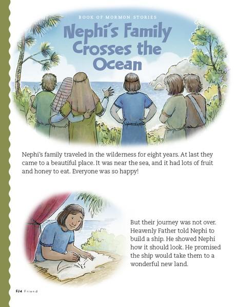 Nephi's Family Crosses the Ocean, 1