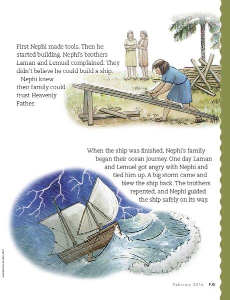 Nephi's Family Crosses the Ocean, 2