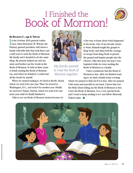 I Finished the Book of Mormon!
