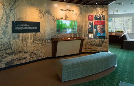 Priesthood restoration site visitors' center interior
