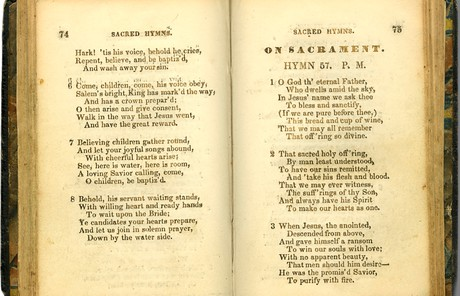 Page from Emma Smith's hymnbook
