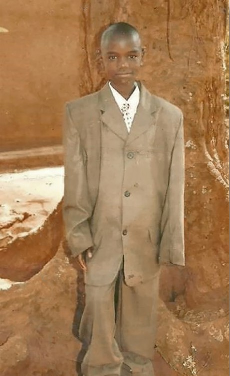 Joseph Ssengooba as a young boy