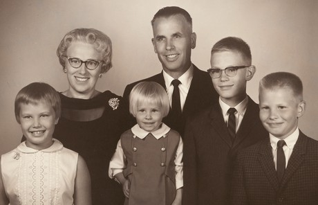 Dale G. Renlund with parents and siblings
