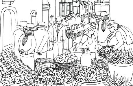 street market scene