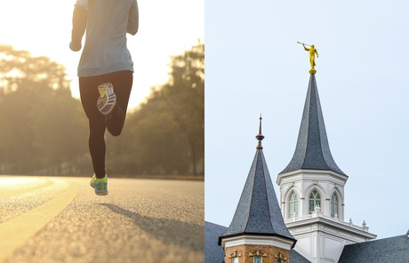 runner and temple spires