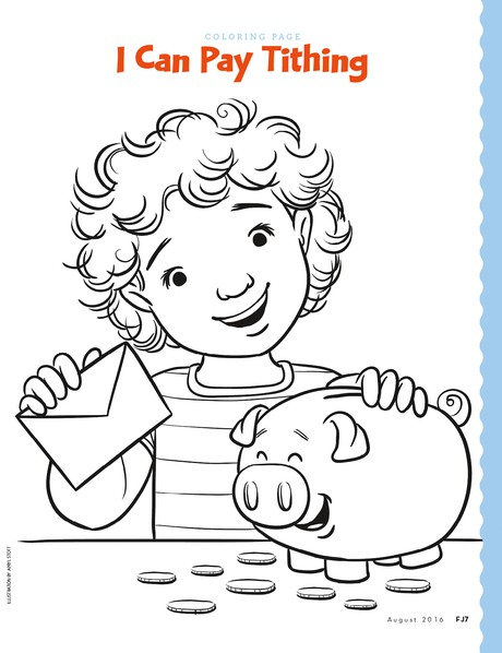 Coloring Page I Can Pay Tithing