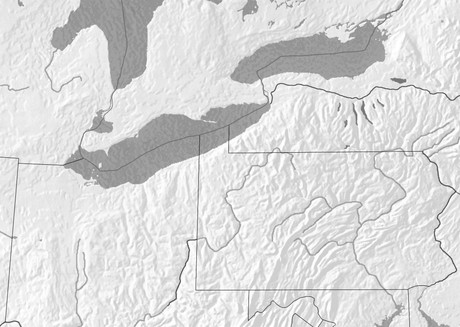 Map Of New York And Ohio.Map 1 The New York Pennsylvania And Ohio Area Of The United States