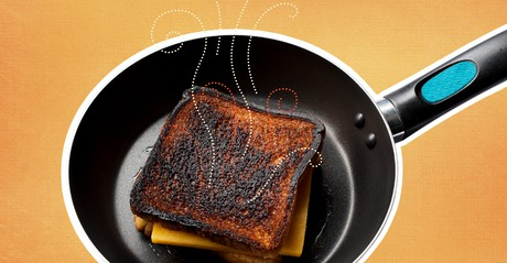 burnt grilled cheese sandwich