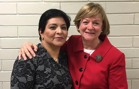 Sister Maldonado with Sister Oscarson
