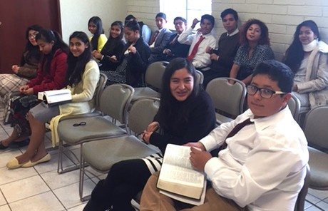 Sunday School class in Mexico