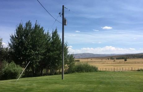 Power pole outside view window