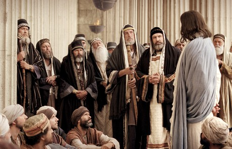 Savior with Pharisees and scribes