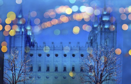 Salt Lake Temple during Christmastime