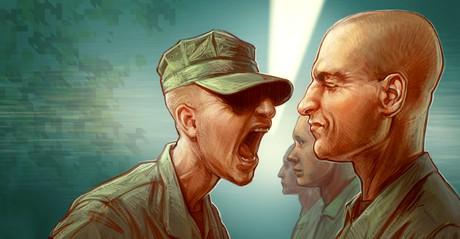 military commander yelling
