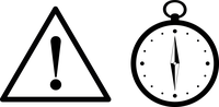 warning sign and compass