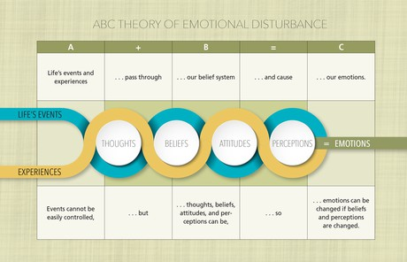 chart showing theory of emotional disturbance