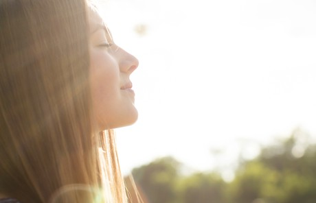 Young woman in sunlight