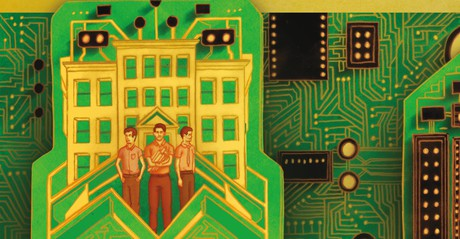circuit board and people