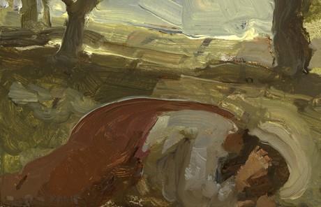 Savior in Gethsemane painting