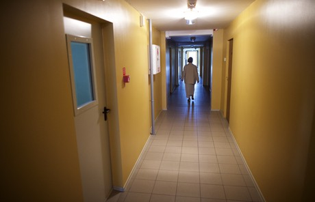 walking down the hall