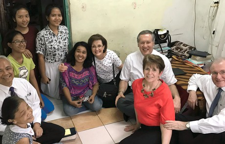 Sister Burton with sisters in Asia