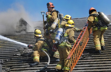 Fighting meetinghouse fire