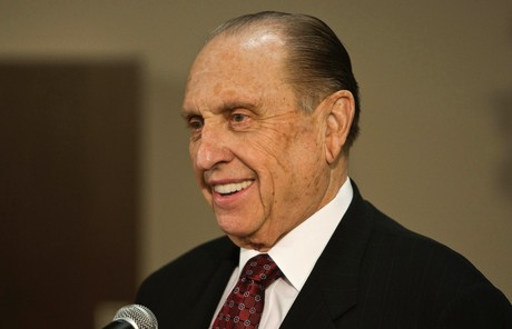 President Monson speaking