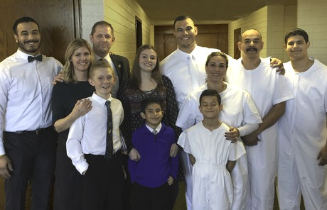 Baptism of Fernando's family