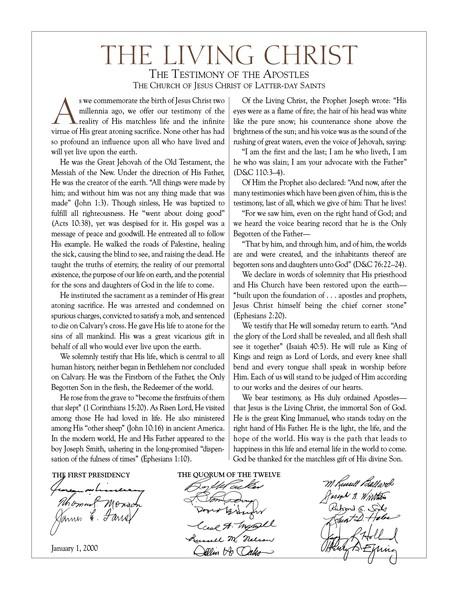The Living Christ document
