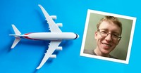 young man and airplane