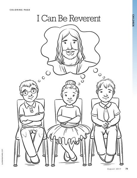 i can be reverent liahona LDS Coloring Pages LDS Coloring Pages