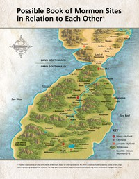 Book of Mormon sites map