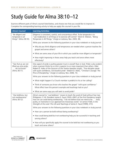 handout, study guide