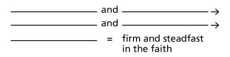 diagram, steadfast faith