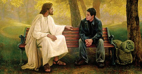 Jesus Christ with young man