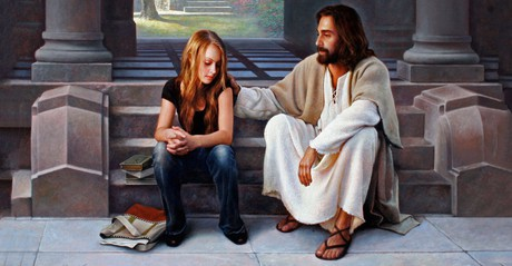 Jesus Christ with young woman