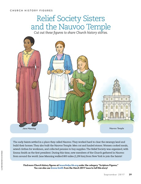 Church History Figures: Relief Society Sisters and the Nauvoo Temple