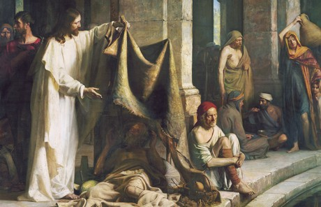 Christ healing at Bethesda