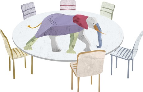 elephant on a table