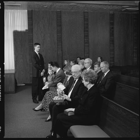 members partaking of sacrament