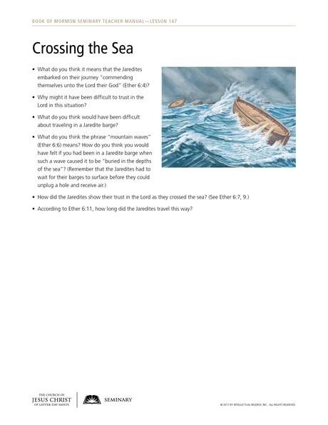 Crossing the Sea handout
