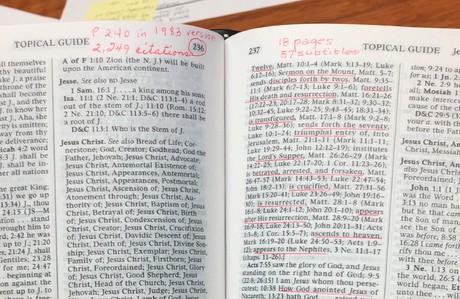 President Nelson's marked scriptures