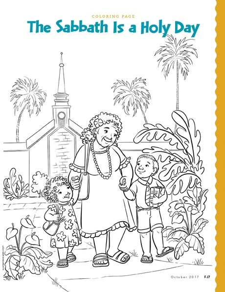 coloring page illustration by apryl stott the sabbath is a holy day