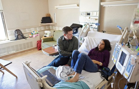 Megan and Nate in hospital