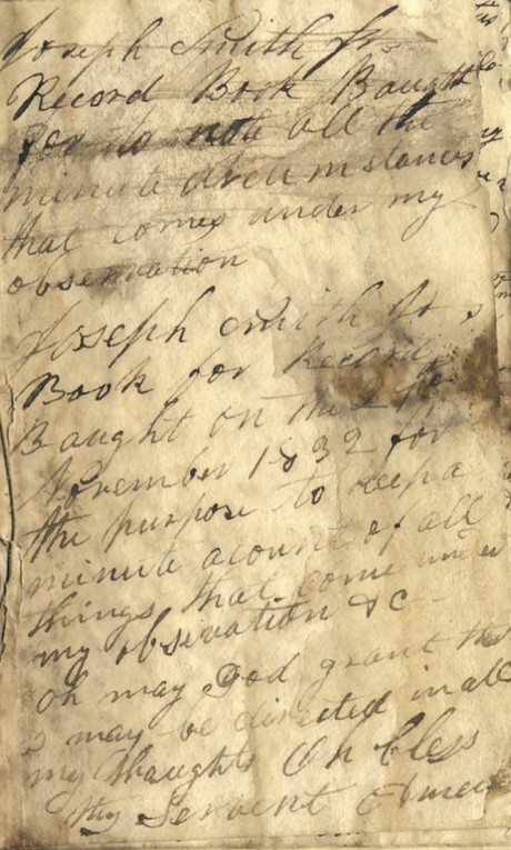 Joseph Smith journal