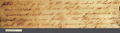 Book of Mormon manuscript page