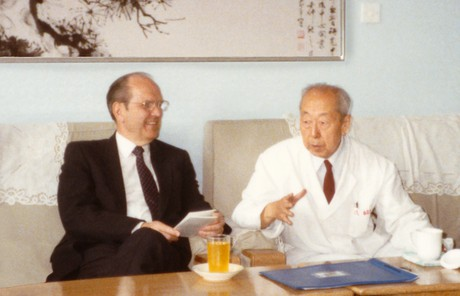 Dr. Russell M. Nelson with Dr. Wu Yingkai
